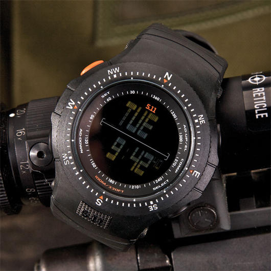 5.11 Tactical Digital Uhr Field Ops Watch schwarz