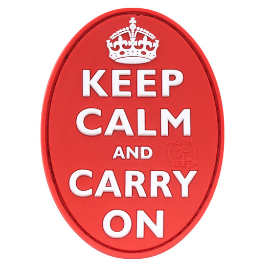JTG 3D Rubber Patch Keep Calm and Carry on rot