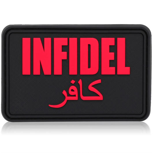 3D Rubber Patch Infidel gro� blackmedic