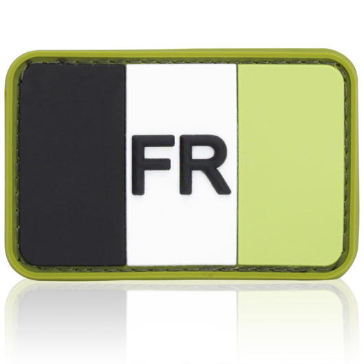 3D Rubber Patch Flagge Frankreich forest