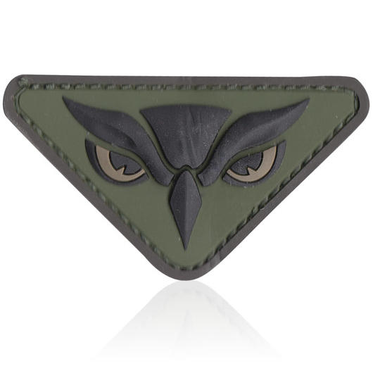 3D Rubber Patch Owl Head forest