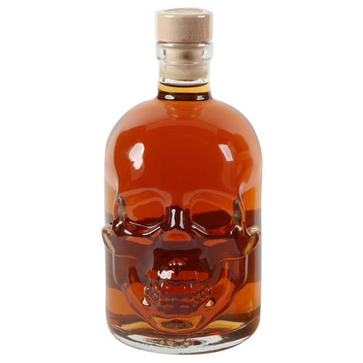 Klondike's Finest Delight Black Rum Skull-Bottle 40% Vol. 0,5l