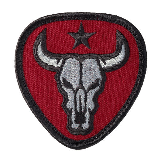 Mil-Spec Monkey Patch Bull Skull red