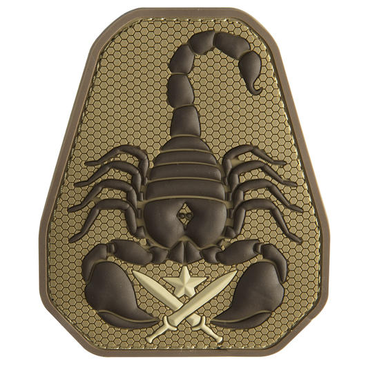 Mil-Spec Monkey 3D Rubber Patch Scorpion Unit desert