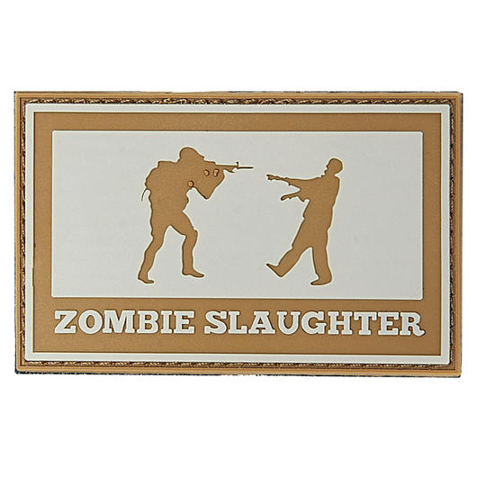 3D Rubber Patch Zombie Slaughter grau/braun