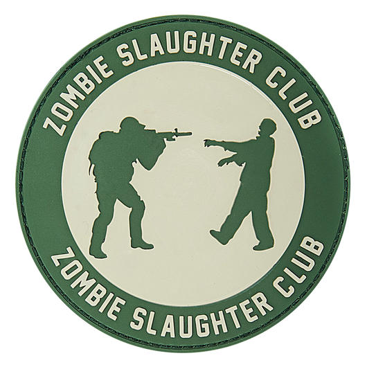 3D Rubber Patch Zombie Slaughter Club grau/grün