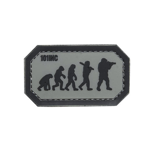 101 INC. 3D Rubber Patch Airsoft Evolution grau/schwarz