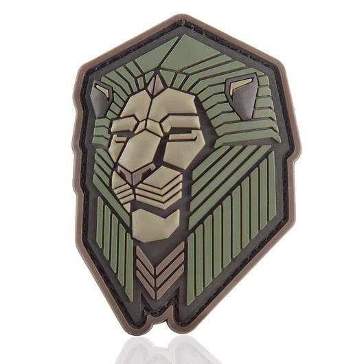 Mil-Spec Monkey 3D Rubber Patch Industrial Lion forest