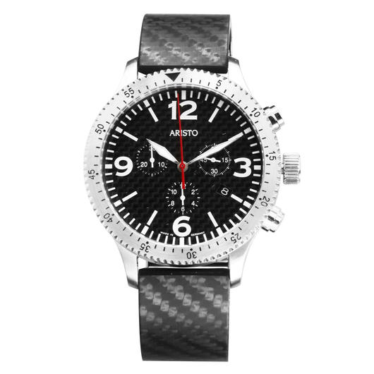 Aristo Uhr Chronograph 7H76 Carbon