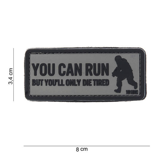 101 INC. 3D Rubber Patch You can run grau/schwarz