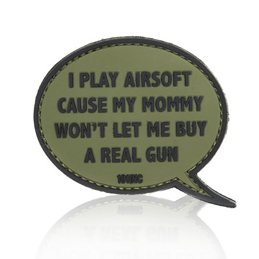101 INC. 3D Rubber Patch I play Airsoft oliv/schwarz