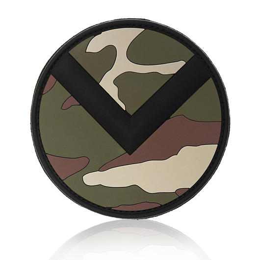 101 INC. 3D Rubber Patch Spartan Shield woodland