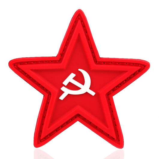 101 INC. 3D Rubber Patch red star with hammer and sickle