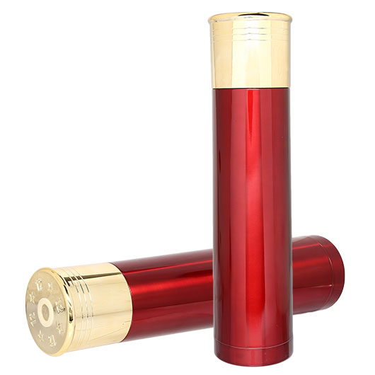 Thermoskanne Schrotpatrone 1000ml rot/gold
