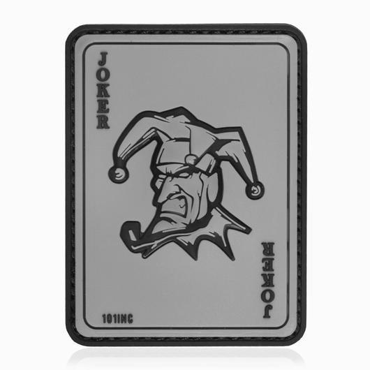 101 INC. 3D Rubber Patch Joker grau