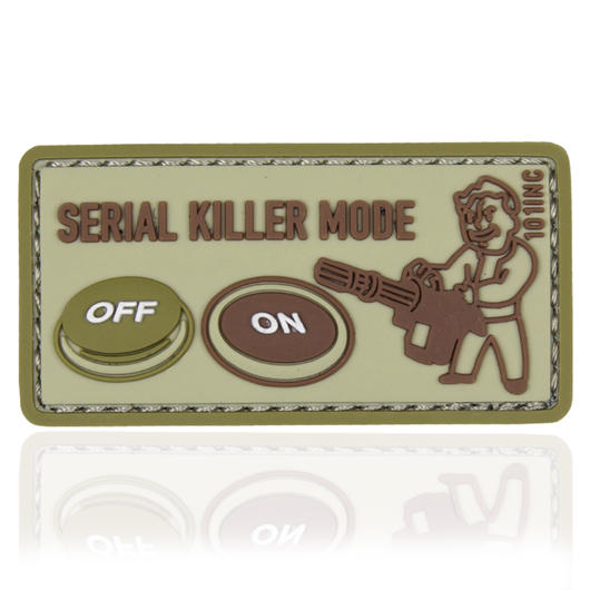 101 INC. 3D Rubber Patch Serial Killer sand