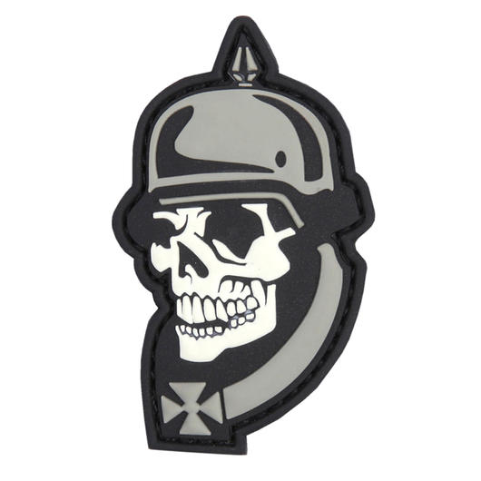 3D Rubber Patch WW I Skull grau