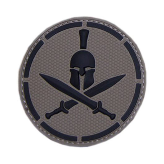 Mil-Spec Monkey 3D Rubber Patch Spartan Helmet acudark 0