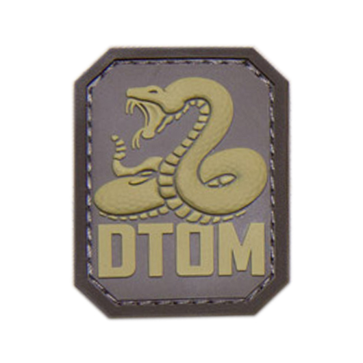 Mil-Spec Monkey 3D Rubber Patch DTOM desert 0