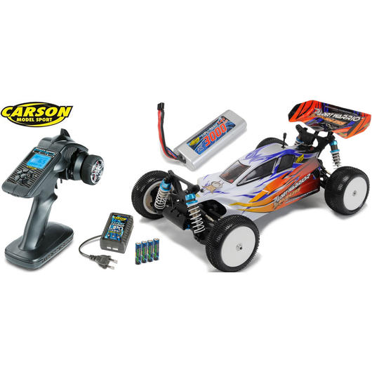 Carson X10EB 1:10 Dirt Warrior BL Water Pro 4WD Buggy 2,4 GHz RTR Set