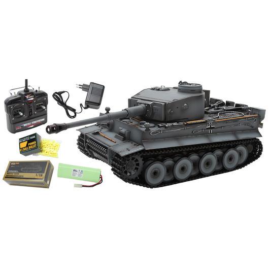 rc panzer tiger i fr he version grau 1 16 schussf hig. Black Bedroom Furniture Sets. Home Design Ideas