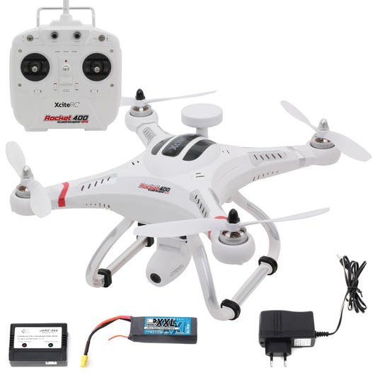 XciteRC Rocket 400 GPS Quadrocopter 2,4 GHz RTF Set inkl. HD-Kamera Mode 2 15001200