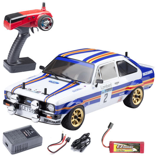EZPower 1:10 Ford Escort RS 1800 1981 4WD Rally Car 2,4 GHz RTR Set EZRL081