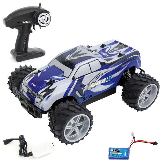 XciteRC 1:16 Eagle Monster Truck 2WD 2,4 GHz 100% RTR Set blau 30507000