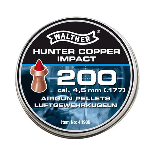 Walther Hunter Copper Impact Diabolos Kal. 4,5 mm Spitzkopf 200 St�ck