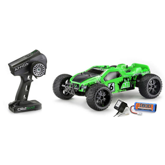 Absima 1:10 Hot Shot AT1 4WD Truggy 2,4 GHz RTR Set neongrün 12202
