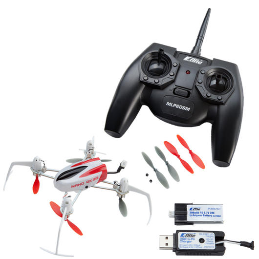 Blade RC Nano QX 3D Quadrocopter 5-Kanal 2,4 GHz 100% RTF Set - Mode 2 BLH7100