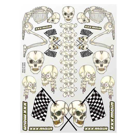 XXX Main Skeletons Sticker Aufkleberbogen S004