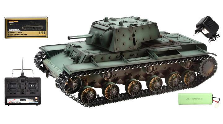 torro rc panzer kv 1 mit metallketten 1 16 schussf hig rtr. Black Bedroom Furniture Sets. Home Design Ideas