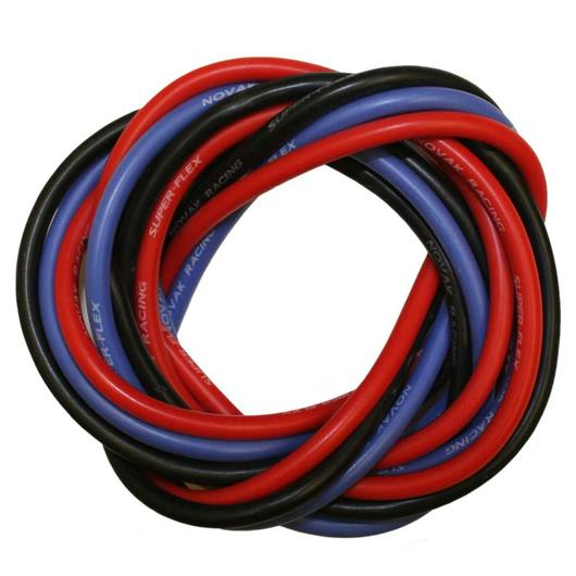 Novak 12 AWG Power Silikonkabel Set rot / schwarz / blau 5512