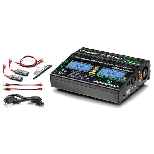 Absima CTC-Duo Touch Charger Ladegerät LiPo / NiMH / Pb 12 / 230V 4000022