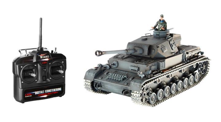 torro rc panzer iv ausf f 2 1 16 schussf hig metallketten. Black Bedroom Furniture Sets. Home Design Ideas