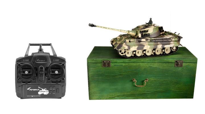amewi rc panzer k nigstiger henschel turm 1 16 schussf hig. Black Bedroom Furniture Sets. Home Design Ideas
