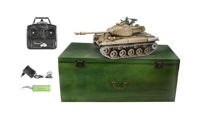 amewi rc panzer walker bulldog m41 mit metallketten 1 16. Black Bedroom Furniture Sets. Home Design Ideas