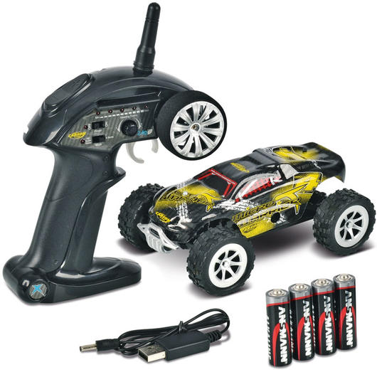Carson 1:24 Micro T-Warrior 2WD Monster Truck 2,4 GHz 100% RTR Set 500404102