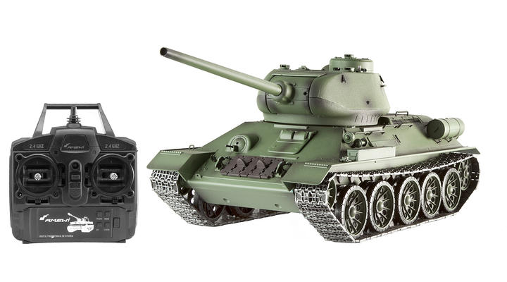 Amewi RC Panzer T34/85 1:16 schussfähig RTR oliv