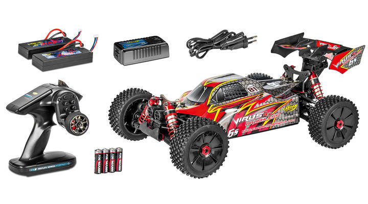 Carson 1:8 Virus Pro 4.0 6S Brushless 4WD Buggy 2,4GHz 100% RTR Set 500409053