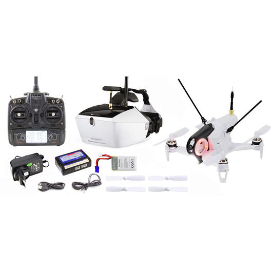 Walkera Rodeo 150 weiss FPV Race Quadcopter 2,4 GHz RTF Set inkl. Goggle 4 Brille 15004450