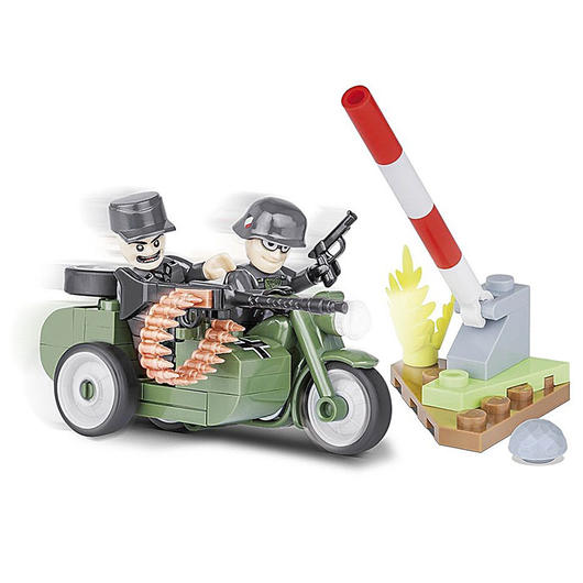 cobi small army bausatz motorrad r75 mit beiwagen 1942 55. Black Bedroom Furniture Sets. Home Design Ideas