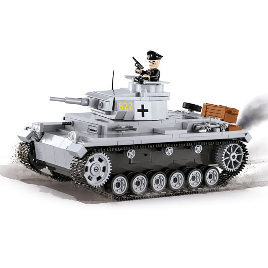 Cobi Historical Collection Bausatz Panzer III Ausf. E 470 Teile 2523