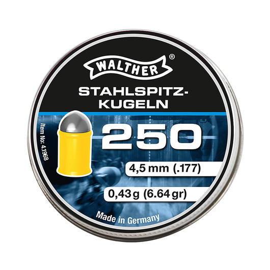 Walther Diabolos Stahlspitzkugeln 4,5mm 250 St�ck