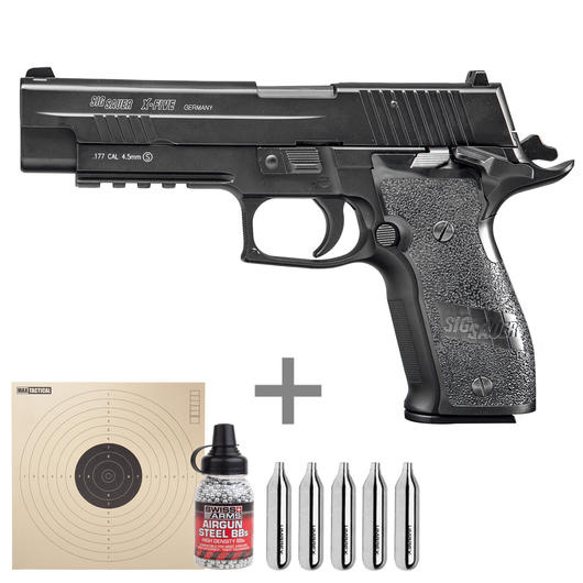 Cybergun Sig Sauer P226 X-Five Vollmetall CO2 Luftpistole 4,5mm BB Komplettset