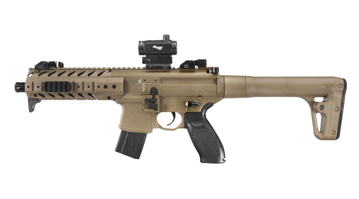Sig Sauer MPX CO2-Luftgewehr 4,5mm Diabolo Dark Earth inkl. Red Dot