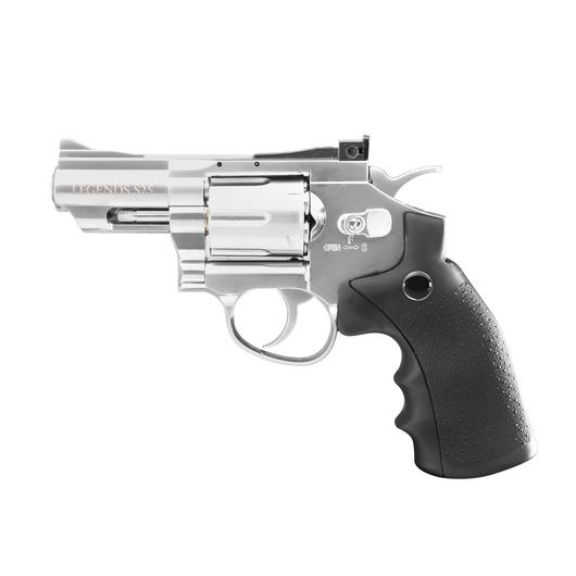 Legends S25 CO2 Revolver 2,5 Zoll Kal. 4,5mm Diabolo chrom Vollmetall