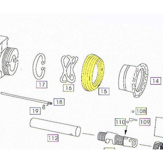 Wei-ETech M4 Part #015 Handguard Slip Ring